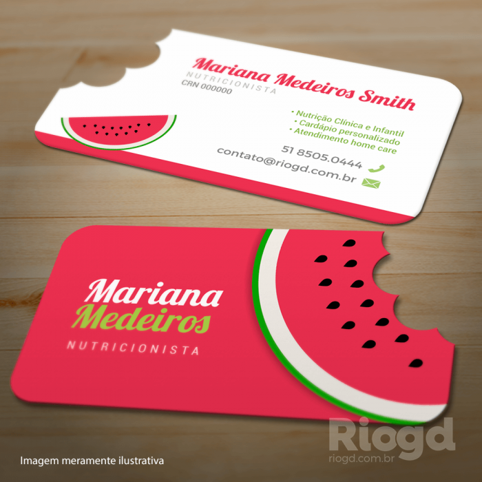 Well-known Cartão Slim - Corte Especial - Melancia | Cartões de visita  CI85