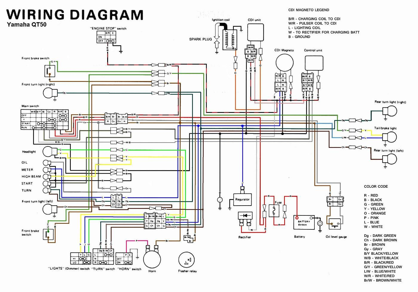 Image result for 1989 yamaha Zuma wiring diagram | 1989