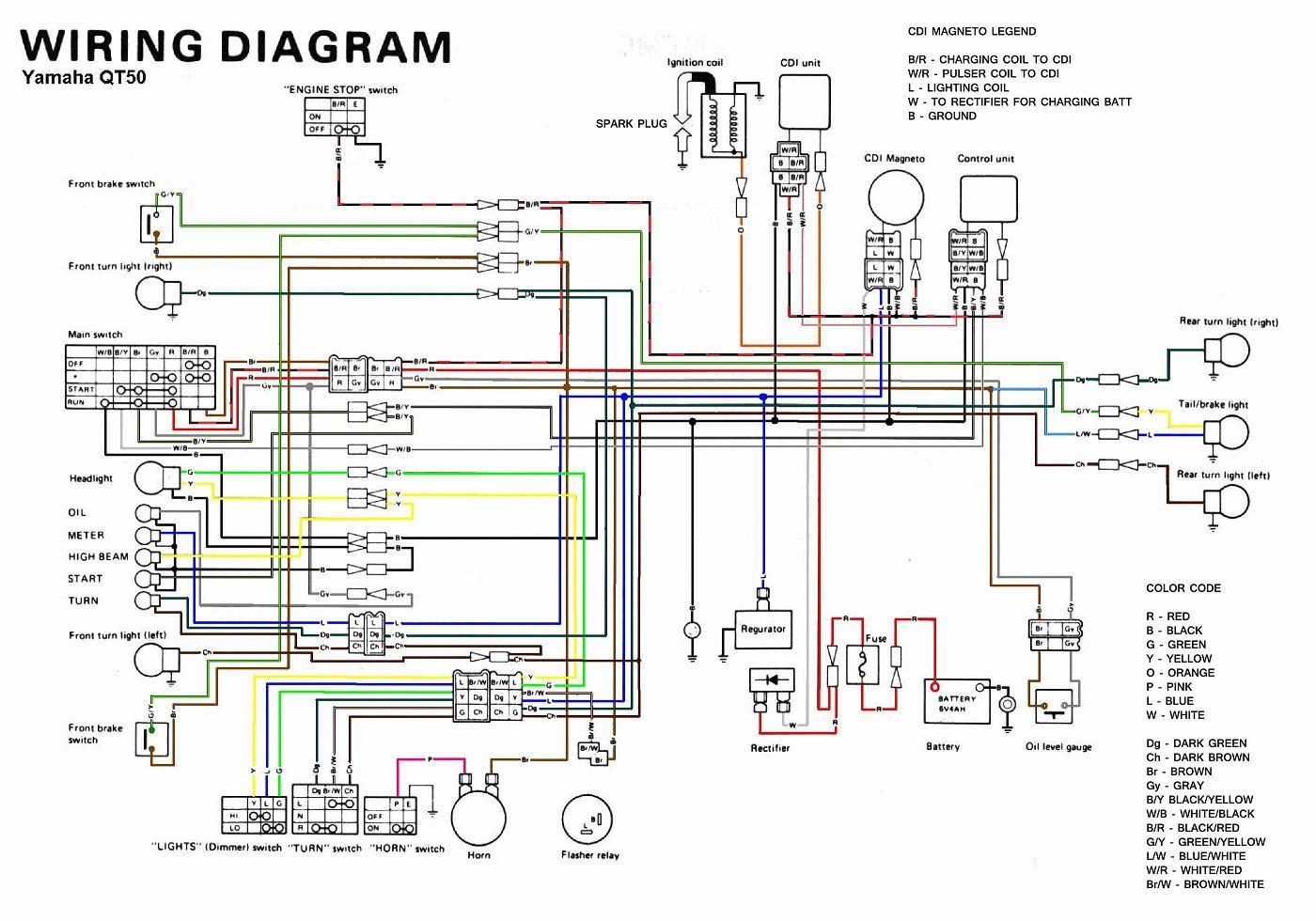 Image result for 1989 yamaha Zuma wiring diagram | 1989