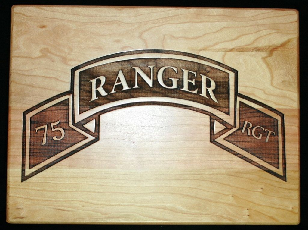 Us Army Ranger Cutting Board Personalized For A Rhpinterest: Army Home Decor At Home Improvement Advice