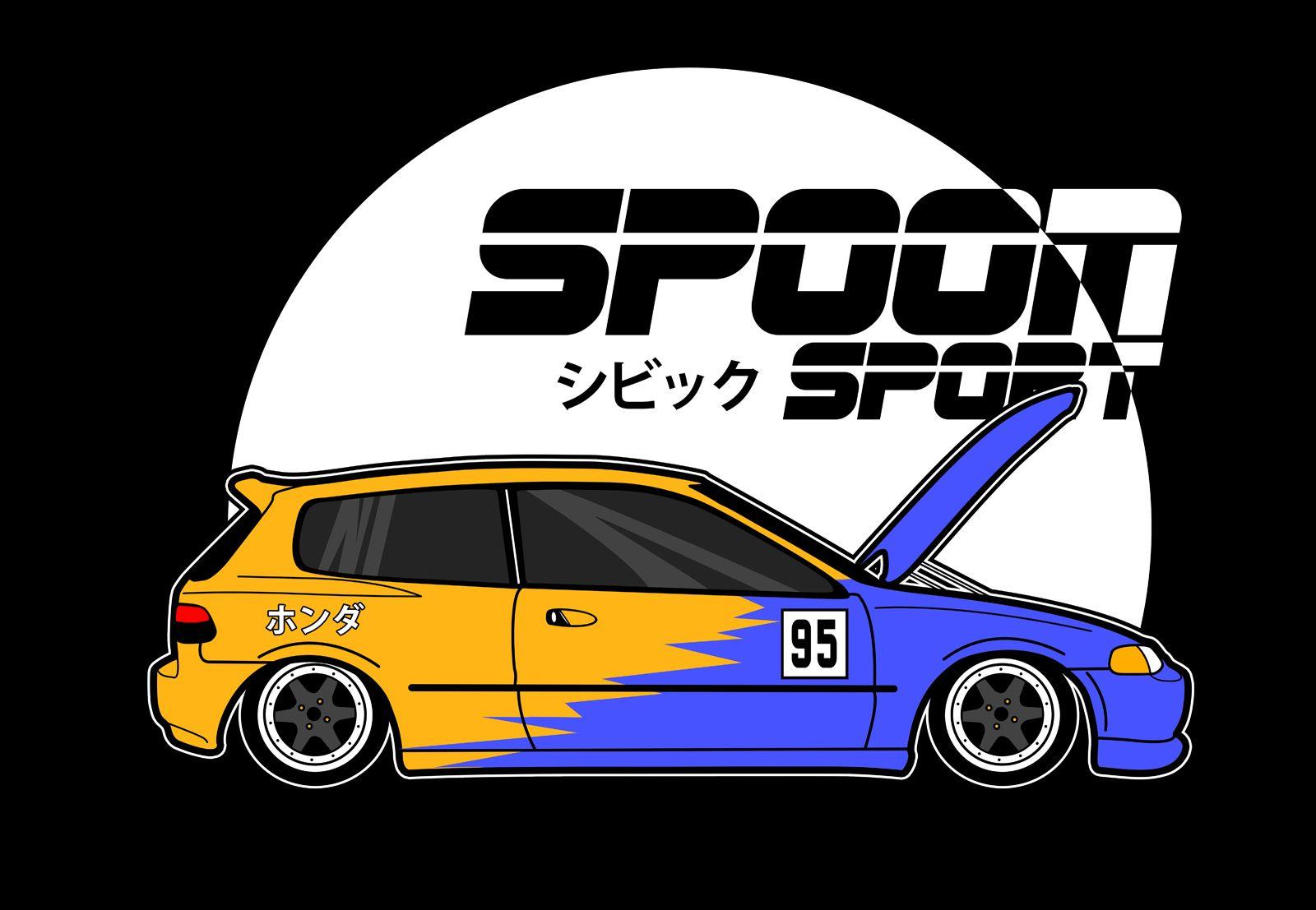 Civic With Spoon Livery Honda Civic Hatchback Honda Civic Vtec Civic Eg