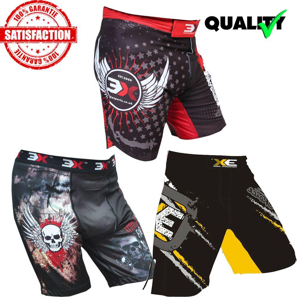 MMA Fight Shorts UFC Muay Thai Martial Arts Kick Boxing New Grappling Cage