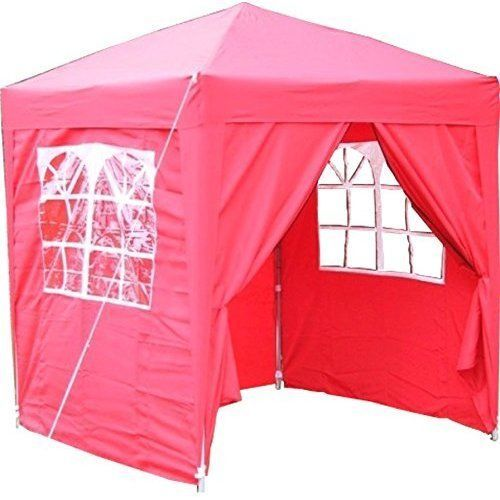 Garden Pop Up Gazebo 2x2m Waterproof Red Outdoor Party