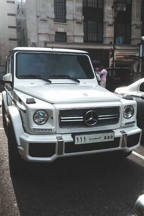 Mercedes Benz G Series Saudi Arabia Plates