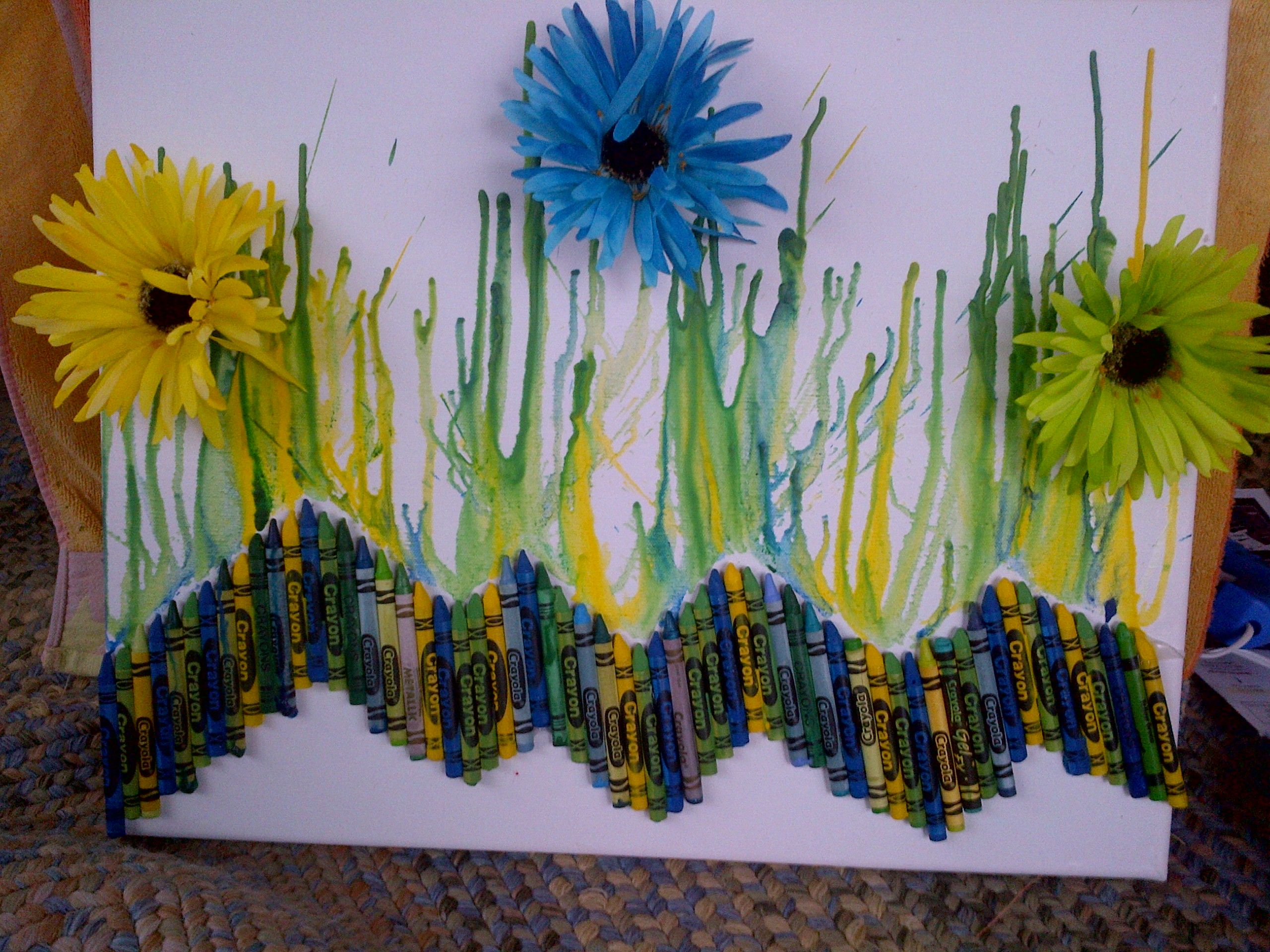 Crayons, hot glue gun, and hair dryer:)