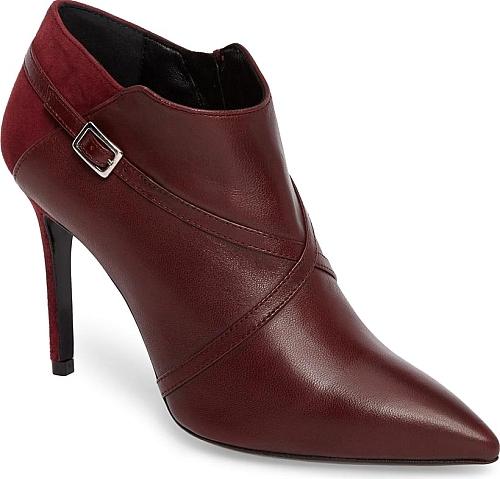 burgundy shoes, pumps flat, shoes