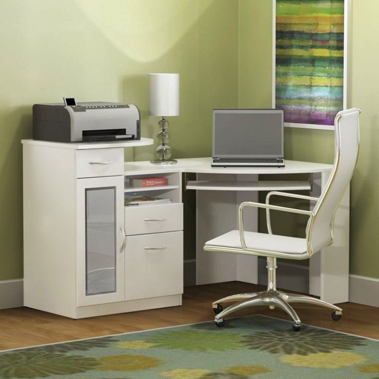 Corner computer desk corner computer desk with hutch - Small corner desk with storage ...