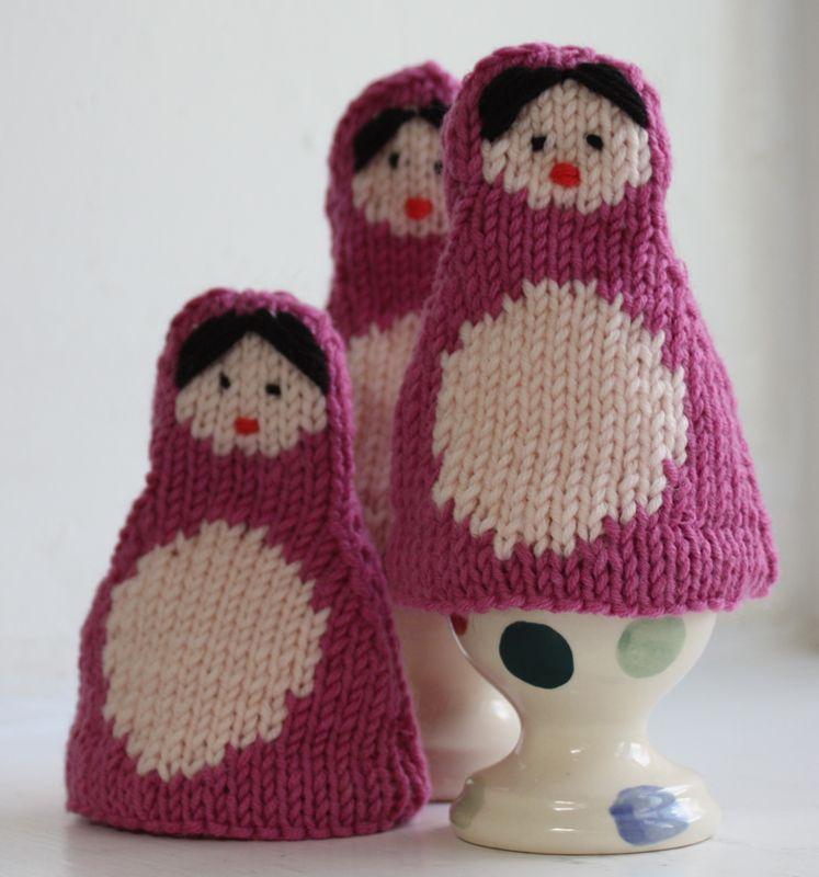 Russian Dolls Egg Cosy Knitting Kit   Matryoshka doll ...