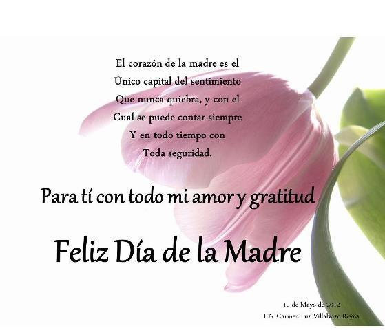 Pin De Liz León En Words Of Wisdom Mensaje Del Día De La Madre Feliz Día De La Madre Feliz Dia Madres Frases