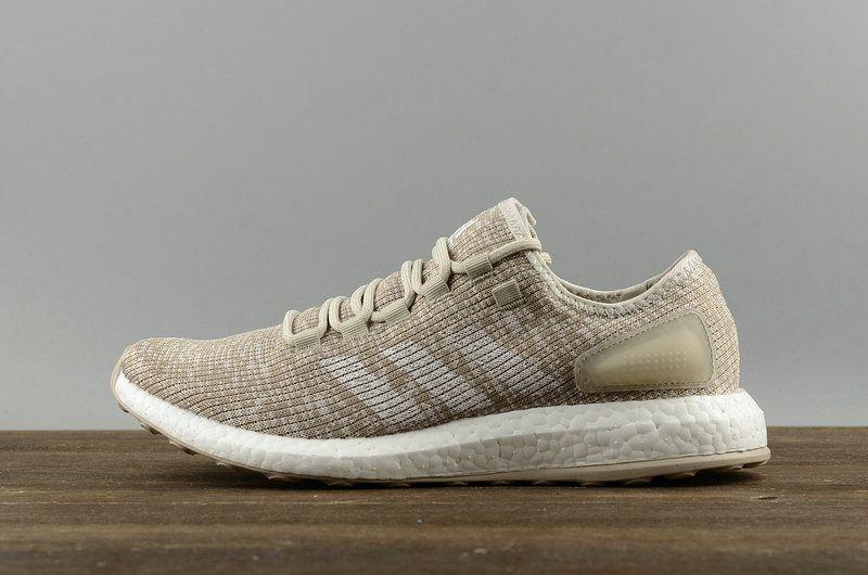 big sale 374f2 20c68 2018 Original 2018 Adidas Pure Boost Mens Running Sneakers Beige White  blanc S82099 Youth Big Boys Sneakers