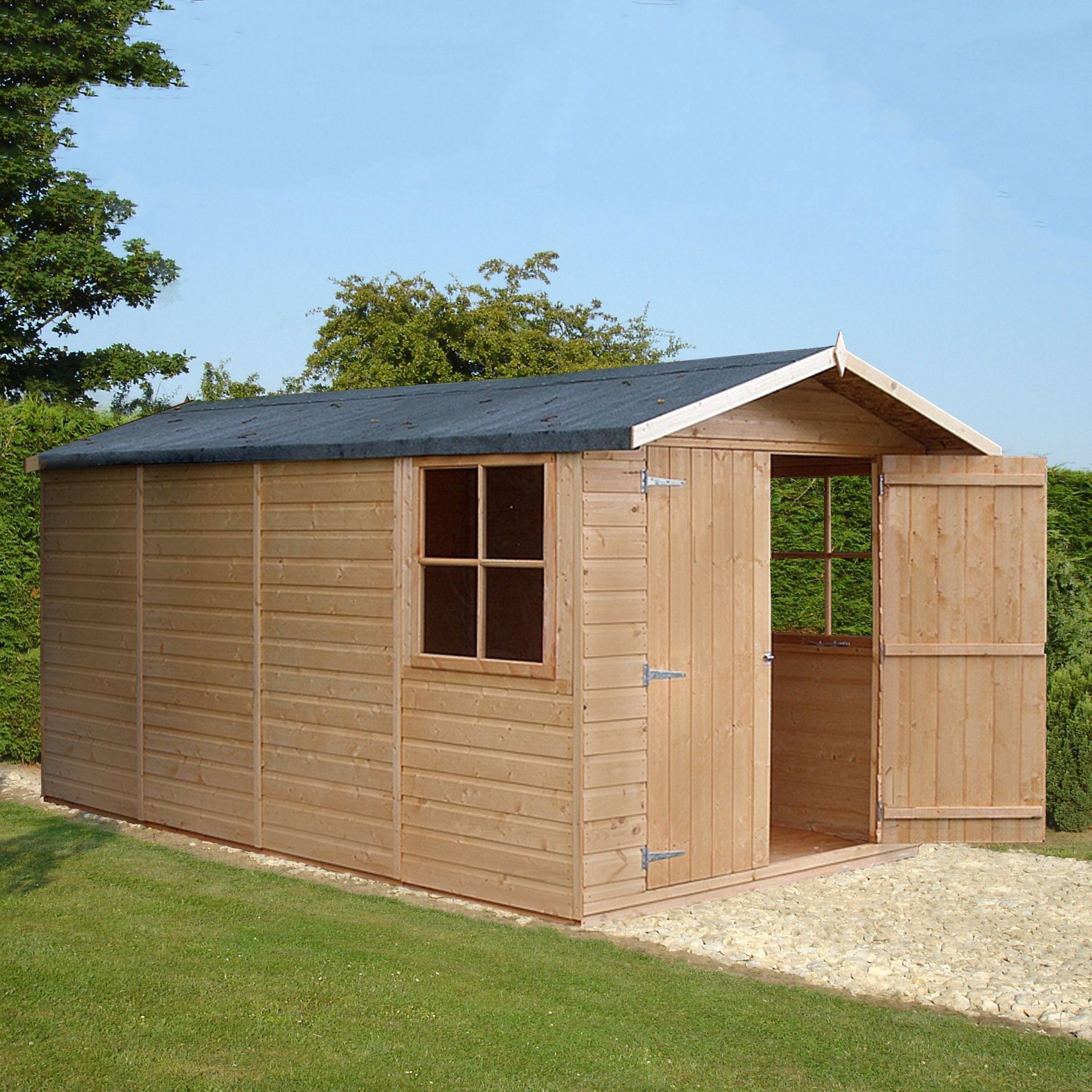 13x7 Jersey Apex Shiplap Wooden Shed With Assembly Service Garden Tool Shed Apex Shed Shed