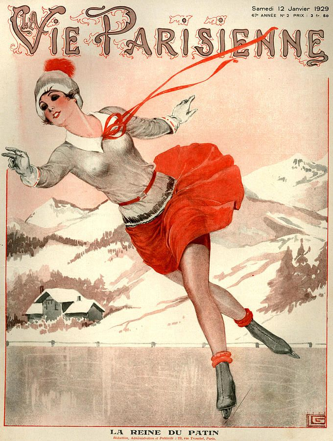 Image result for french vintage winter magazine covers