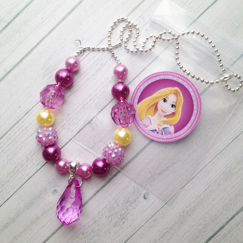 6 Rapunzel Charm Bracelets Party Bags Gift Favour