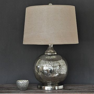 Exceptionally Beautiful Silver Table Lamps Light