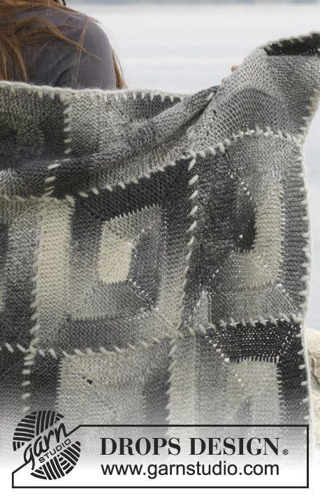 Gestrickte drops decke in big delight mit verk rzten for Decken streichen leicht gemacht