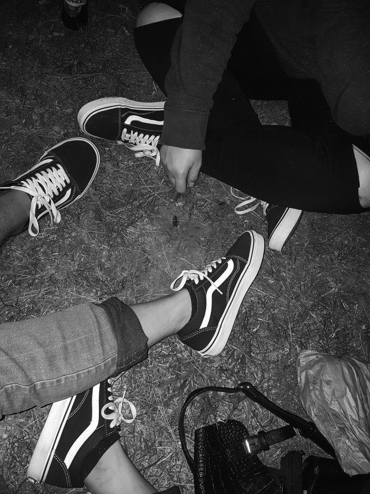 vans tumblr black and white