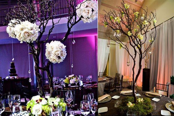 Centros de mesa para boda con ramas secas Proyectos que intentar