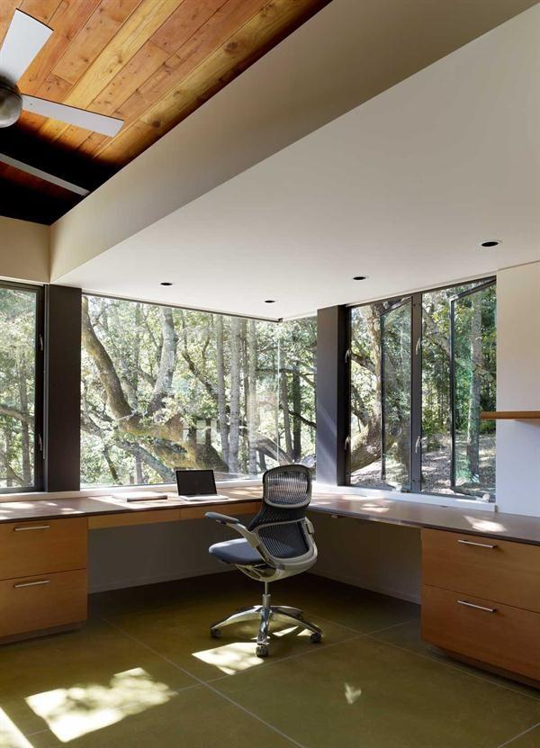 wonderful futuristic office desk   Wonderful wrap around desk. Sonoma Mountain House ...