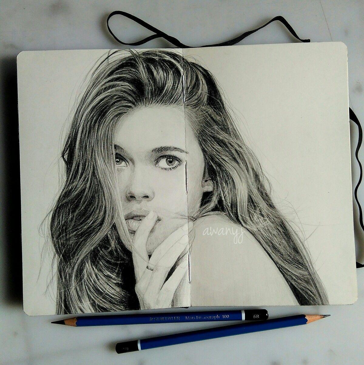 Draw drawing pencil portrait pensil lukisan gambar