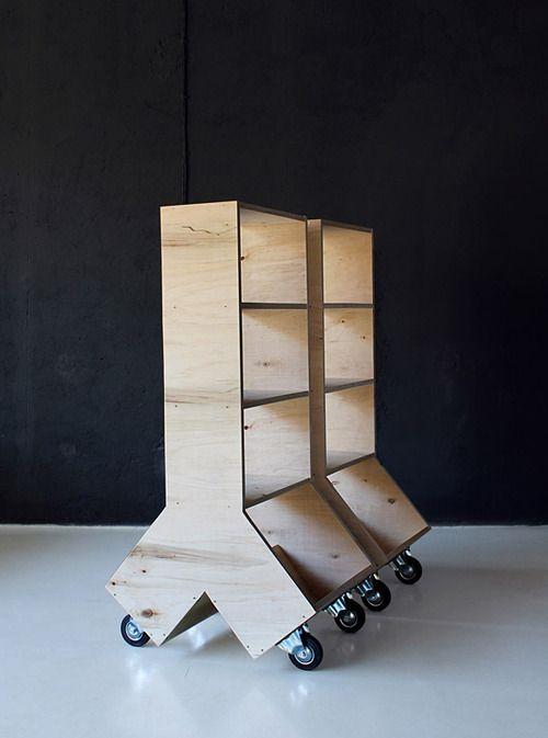 Bücherregale Auf Rädern Warum Nicht Mobile Shelving Holzprojekte