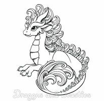 Inktober Curly By Dragonsandbeasties Dragon Coloring Page Baby