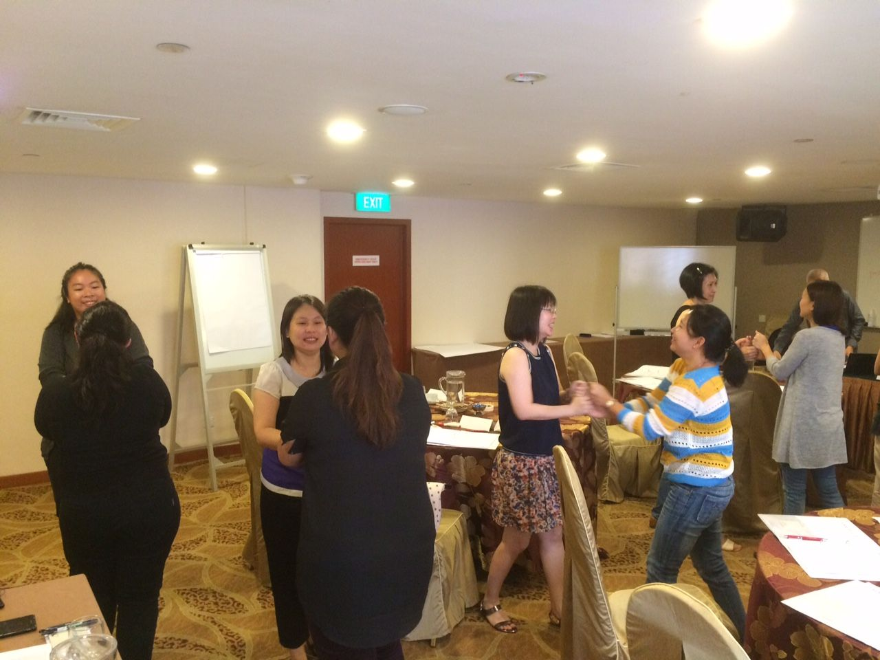 Participants getting acquainted with each other.
