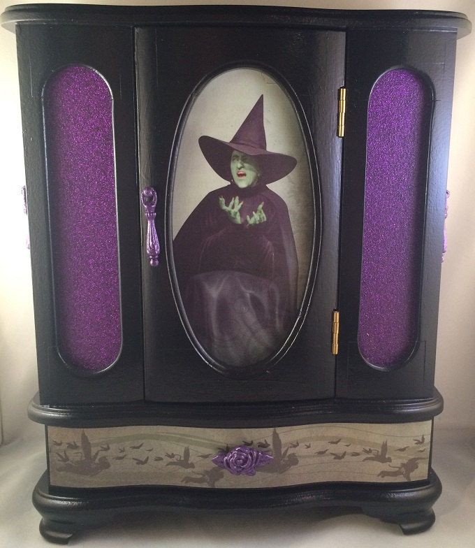Wicked Witch of the West Wizard of Oz Jewelry Box Witches Box and