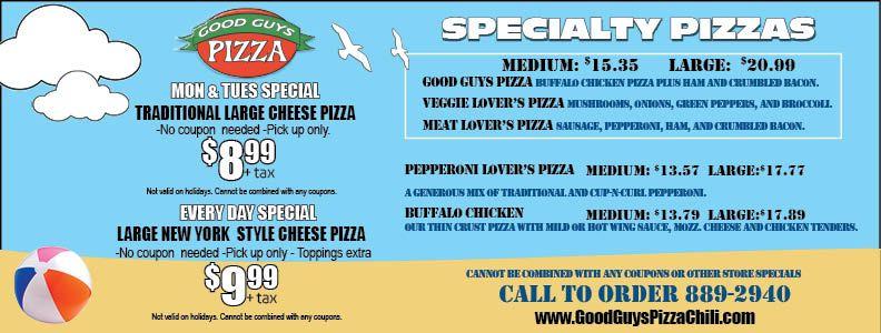 Good guys pizza chili ny
