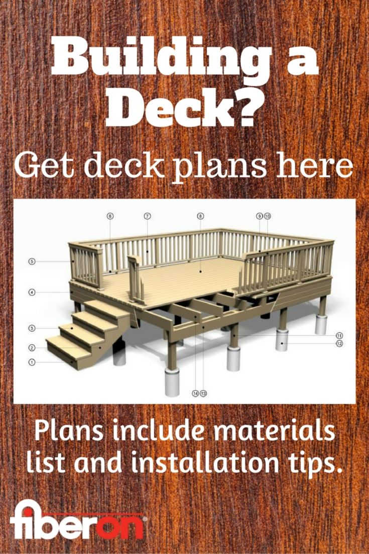 Choose From A Variety Of Deck Styles And Sizes Get Free Plans To Help You Get Started Building A Deck Backyard Deck Plans