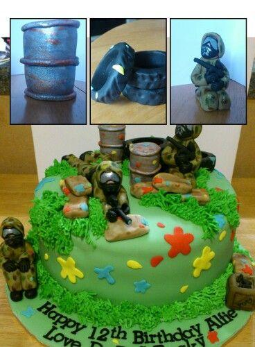 Paintball Cake Cakes Pinte