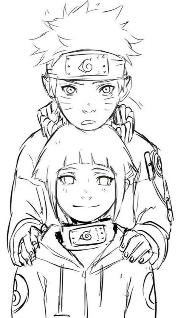 Wallpaper Naruto Uzumaki x Hinata Hyuga Fanart Anime Manga couple