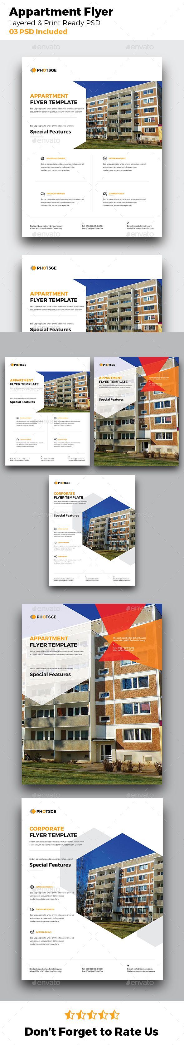 Apartment Rental  Real Estate Flyer Ad Agency Building
