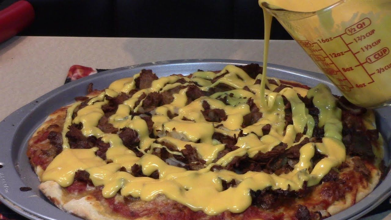 Ultimate Philly Cheese Steak Pizza Home Made Philly