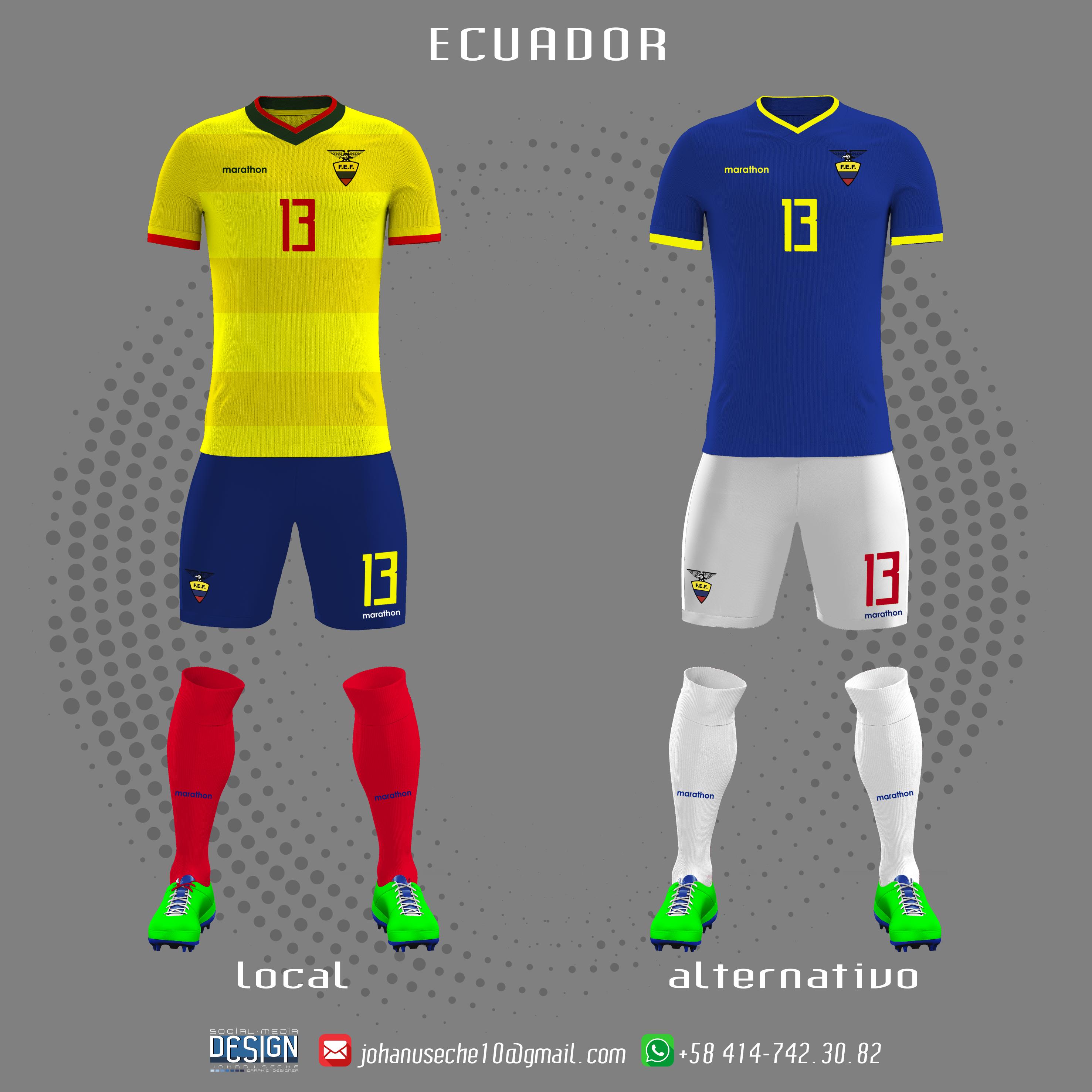 e73be9d6c kit Ecuador copa américa 2019 (no oficial)
