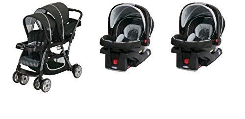 Graco Double Stroller Twin With 2 Car Seats Included Travel System