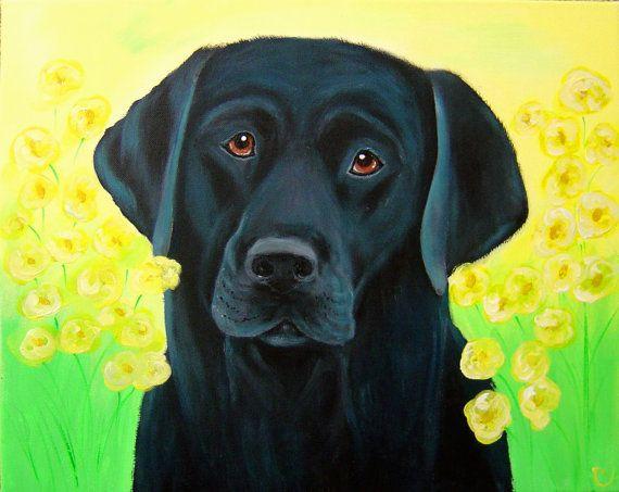 8x10 Fine Art Print Black Labrador by Carol Iyer EFA