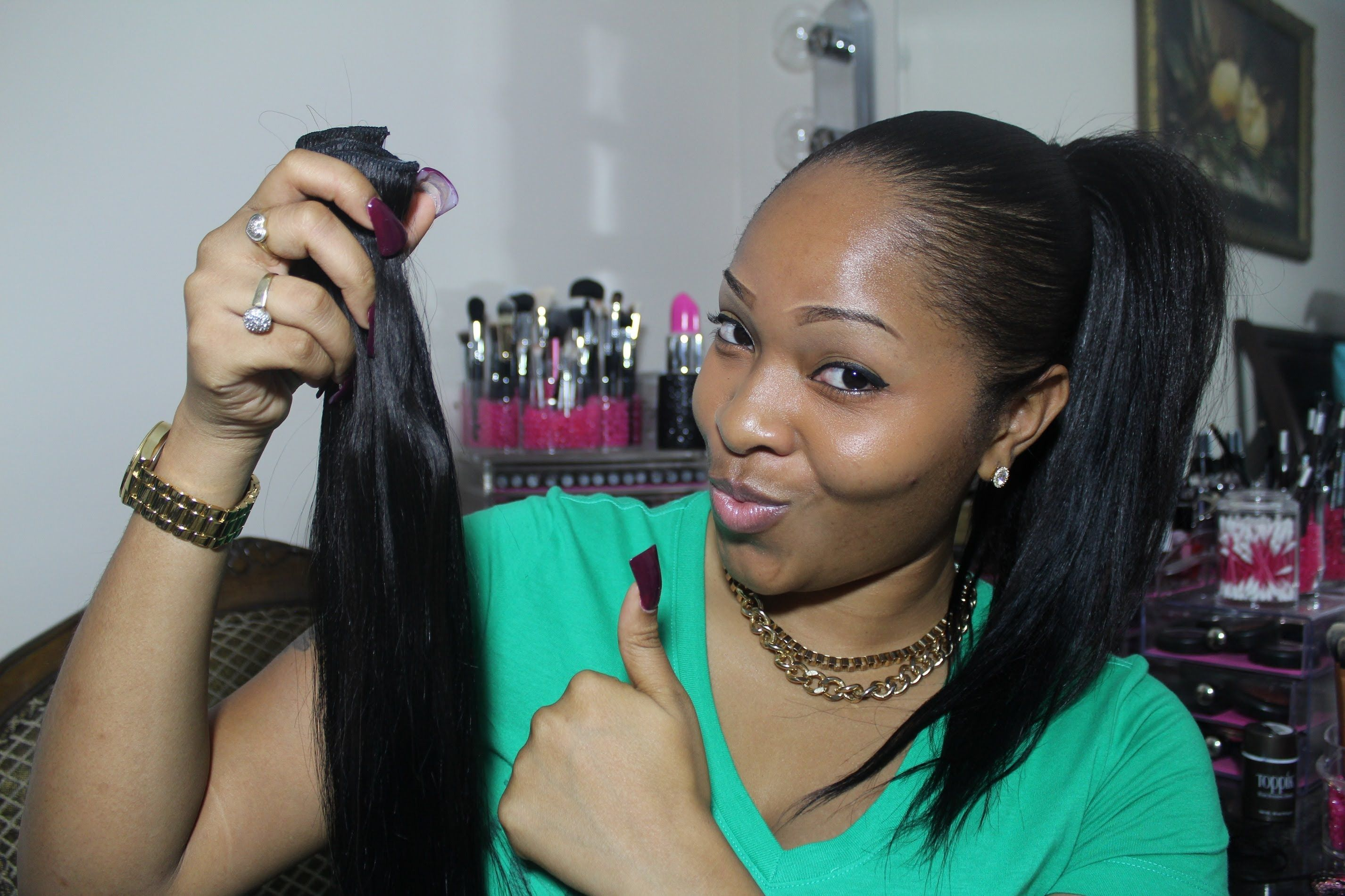 How To High & Low Ponytail Using Clip In Extensions VP Fashion
