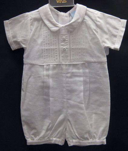 275d526fa6c8 Will Beth Christening Romper Hat 9M 2 PC Baby Boys Baptism Dedication Cap