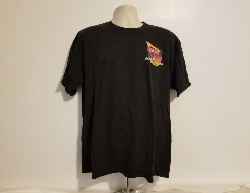 1da8d1ed3959 In N Out Burger California Quality You Can Taste Adult Black XL T-Shirt  #INNOutBurger #GraphicTee