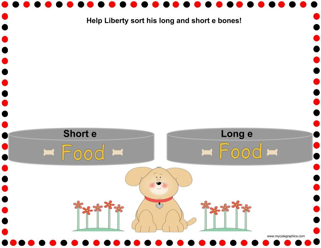 Long E And Short E Word Sort