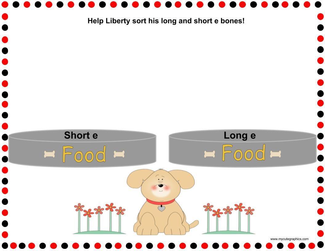 Long E And Short E Word Sort