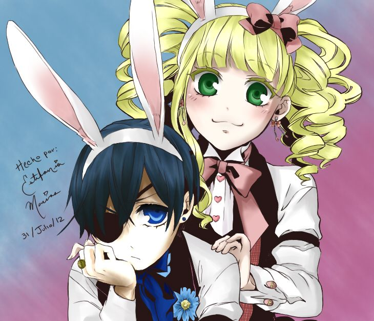Poor Ciel, oh, look at him... They are cute together ! Black Butler