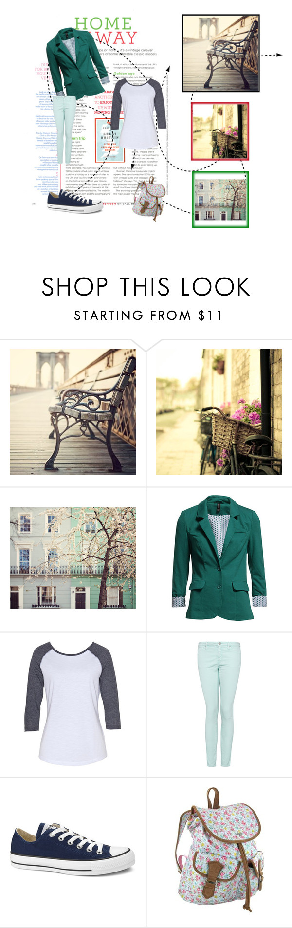 """home & away"" by adeilizawardhani ❤ liked on Polyvore featuring French Country, Vero Moda, MANGO, Converse and Rocket Dog"