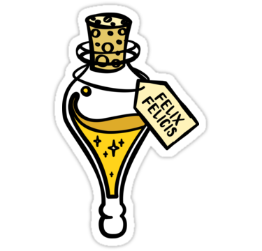 Felix Felicis Liquid Luck Potion Magic Spell Sticker By Tachadesigns Harry Potter Stickers Harry Potter Drawings Halloween Stickers
