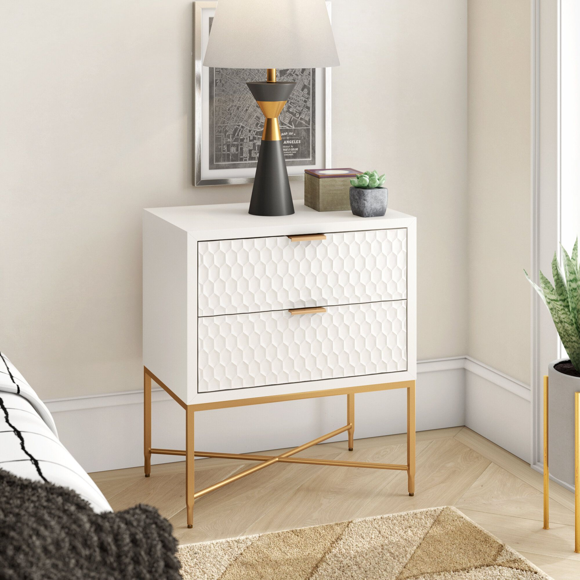 Francesca 2 Drawer Nightstand 2 Drawer Nightstand Nightstand