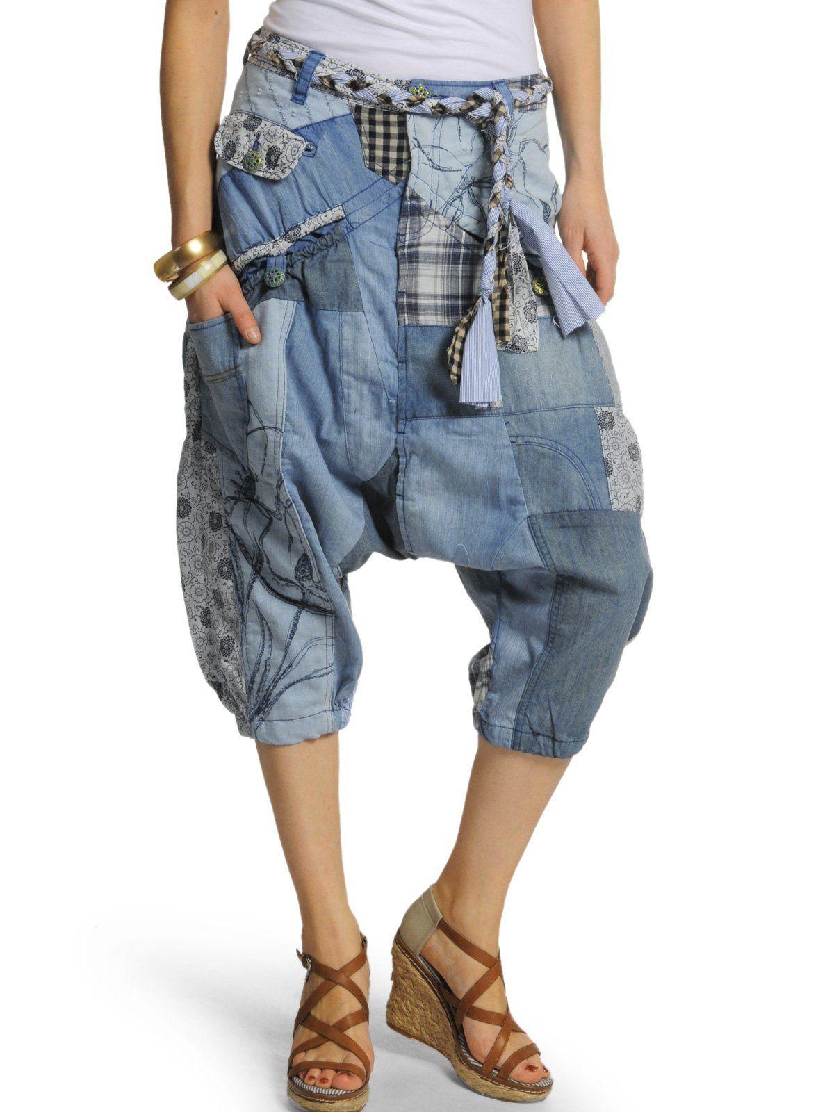 Desigual Damen Loose Jeans Pant Barba Roja, denim, Gr. 26