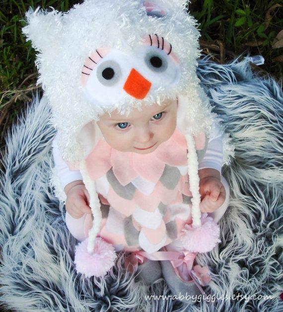 Owl Costume baby toddler girls Halloween Costume by abbygiggles & 29 Beautiful Handmade Halloween Costumes For Kids | Pinterest ...