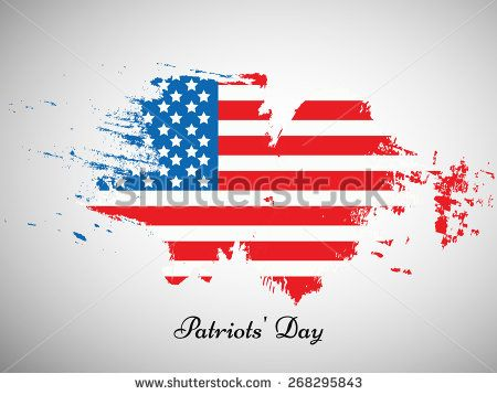 Illustration Of U S A Flag For Patriots Day Patriots Day Abstract Images Illustration