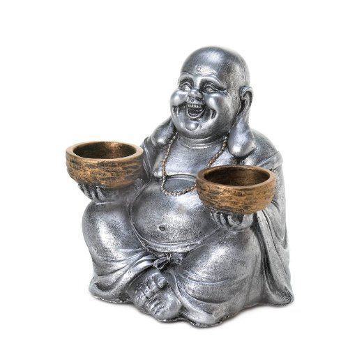 Sitting Buddha Candleholder (pack of 1 EA) $11.40