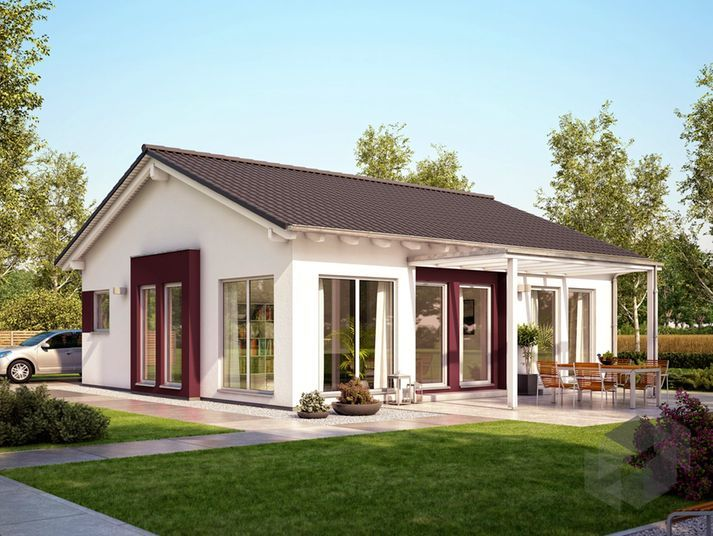 Hausfassade modern bungalow  Solution 78 V6 von Living Haus by Bien-Zenker | Bungalow ...